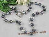 pn237 Sterling silver 8-9mm black potato pearl single neckalce on sale