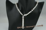 pn343 stunning 6-7mm potato pearl Y style necklace