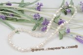 Pn467 Hand Knotted 6-7mm Freshwater Nugget Pearl Costume Necklace