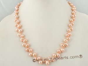 pnset211 Elegance pink freshwater dancing pearl necklace set on sale