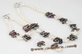 pnset469 Designer Freswater Cultured Pearl Necklace Jewelry Set
