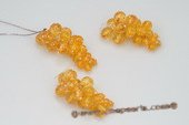 Pnset518 Designer Sterling Silver Gradual Amber Grape Jewelry Set