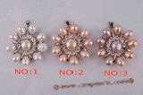 pp007 handcrafted silver blossom cultured pearl pendant in wholesale