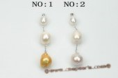 pp016 Triple gradual freshwater baroque pearl pendant necklace