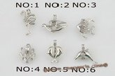 ppm001 wholesale ten pieces silver plated copper wish pearl pendant&cages
