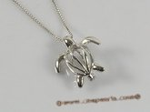 ppm003 sterling silver turtle design wish pearl pendant&cages wholesale