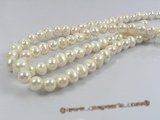 pps017 11-12mm nature white potato freshwater pearl strand in wholesale