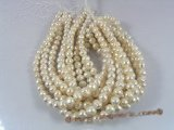 pps019 White large size whorl potato loosen pearl strand in wholesale,10.5-11.5mm
