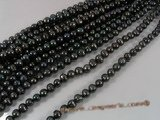 pps020 Black big size whorl potato loosen pearl strand on sale,9.5-10.5mm