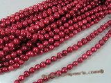 pps022 Wine red 9.5-10.5mm whorl potato freshwater pearl strand for wholesale