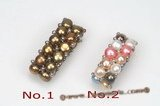 Pr042 Fashion Double Rows Multicolor Bread Pearl Stretchy Ring