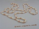 rpn010 7-8mm potato shape freshwater pearl  Opera necklace