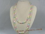 rpn128 8-9mm multi-color nugget pearl long neckace in wholesale