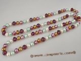 rpn154 6-7mm multicolor potato pearl rope long necklace online wholesale