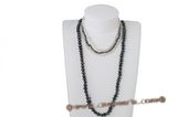 rpn278 Casual white&black design low quality pearl clearance costume necklace