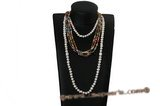 rpn279 Inspiration style multicolor low quality potato pearl clearance costume necklace