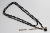 Rpn367 Fantastic Black Agate and Culutred Nugget Pearl Party Opera Necklace