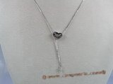 sc016 18inch 925 Sterling silver box lariat chain with pendant mounting