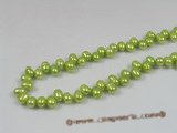 sds05 five strands green 6-7m side-dirlled pearls