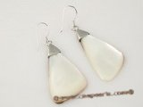 se022 Triangle Shape Mother of Pearl Shell dangle earring with 925 silver hook