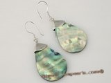 se062  oval-drop Abalone shell dangle earrings in facrtory price