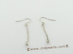 sem011 wholesale 925silver dangle Earrings fitting with sterling hook