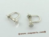 sem017 Sterling Silver Clip Earrings mounting