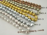 shps001 wholesale 12*16mm baroque nugget shell pearl strand in low price,different color