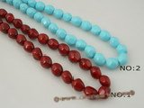 shps003 12*16mm baroque nugget shell pearl strand in wine red or turquoise color