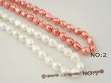 shps004 baroque nugget shell pearl strand in wholesale price,8*12mm