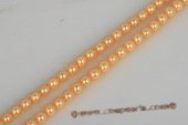 shps006 Wholesale 8mm Round Shell Pearl Strand in Golden color