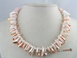 SN005 shell  beads necklace with 4-5mm nugget seed pearl