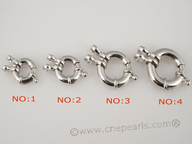 snc003 12mm Sterling Silver Fancy Spring Ring clasp