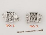 snc005 Wholesale 925Silver Square Brite jewelry clasp in low price