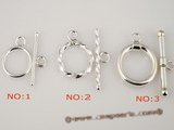 snc006 Five pieces Sterling Silver Toggle Clasp in wholesale