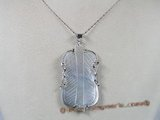 sp002 35*60mm fanlike mother of pearl shell pendant