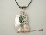 sp099 37*52mm mother of pearl shell pendant
