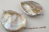 sp118 Stylish nature shape mother of pearl  shell  pendant on sale,55*70mm