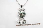 Sp153 28*60mm Pattern abalone Shell Pendant Necklace