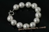 spbr006 Fashion 12mm round shell pearl bracelet in wholesale