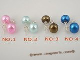 spe191 special colorized freshwater bread pearl stud earrings in wholesale price