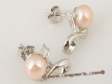 spe203 Designer Style nature pink bread Pearl Bridal Stud Earrings in wholesale