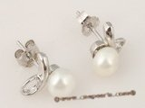 spe204 wholesale 5.5-6mm White bread Pearl Bridal Stud Earrings