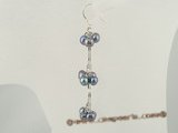 spe217 Pierced dangle earrings dropping with grape design cultured pearl