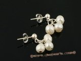 spe227 Genuine Freshwater Pearl cluster stud Earrings in wholesale