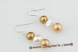 spe282 charming sterling silver dangle earrings with freshwater pearl