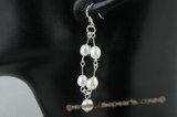 spe283 Fashion sterling silver freshwater rice pearl dangle earrings