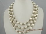 spn026 Triple strand shell pearl necklace at wholesale price