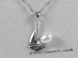 spp026 sterling white rice shape pearl jalor design pendant