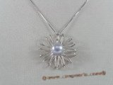 spp071 Wonderful 925silver flower bridal Pendant with bread pearl on sale